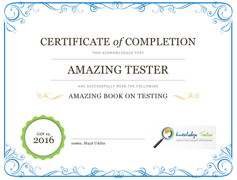 CertifiedBookReadingTester